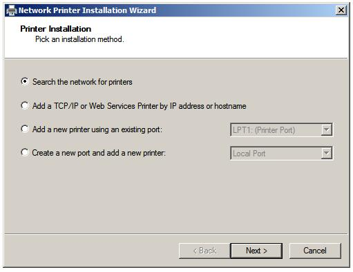 Setting Up a Windows Server 2008 Print Server - Techotopia