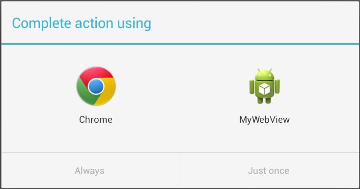 Android providing a choice of matccing activities for an implicit intent