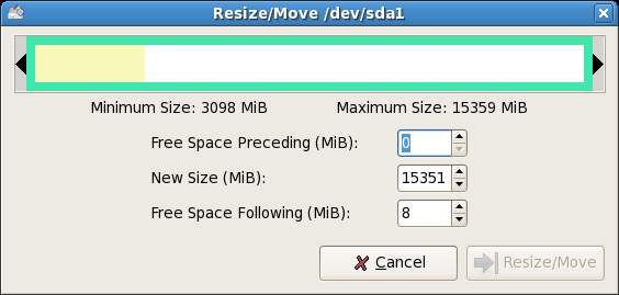 Fedora Resize Windows Partition
