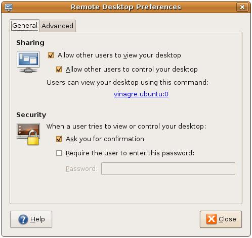 Configuring Ubuntu Remote Desktop Access