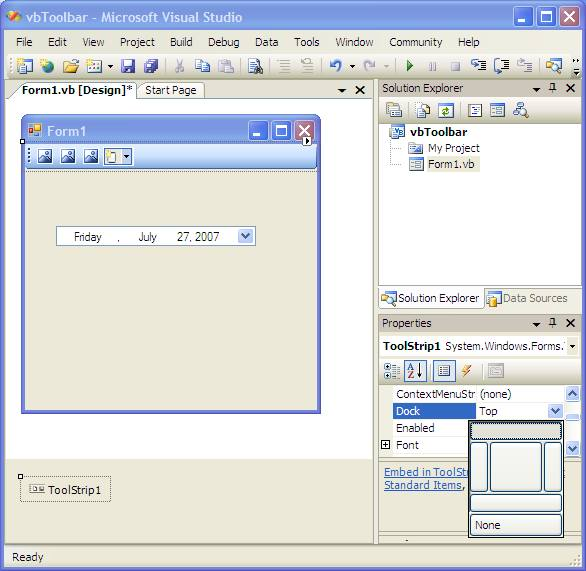 Building a Visual Basic Toolbar - Techotopia