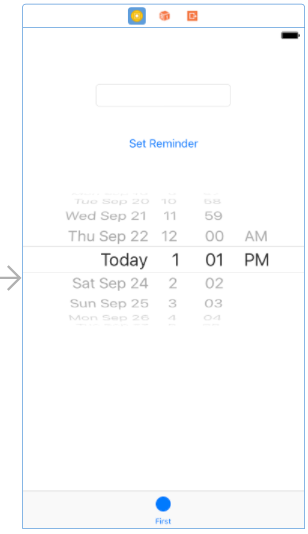 Xcode 8 ios 10 reminder app first ui.png