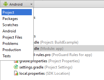 Android studio swtich to project mode 1.4.png