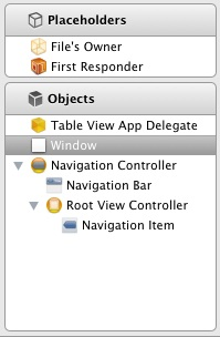 iPad table view hierarchy
