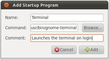 Adding an application to the Ubuntu 11.04 Unity desktop startup