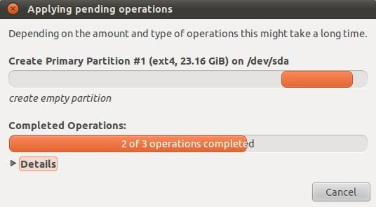 Allocating an Existing Windows Partition to Ubuntu 11 04
