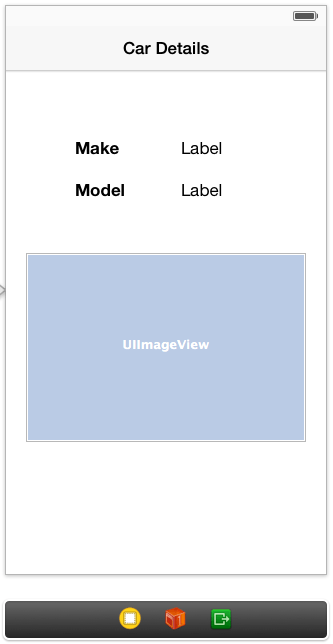 The user interface for the table view details scene