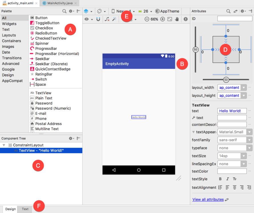 A Guide to the Android Studio Layout Editor Tool - Techotopia