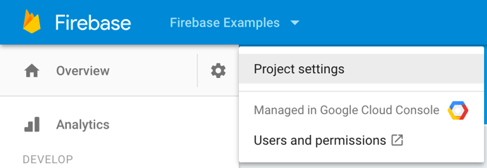 Firebase auth console project settings.png