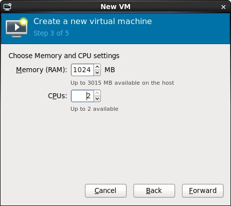 Configuring memory and CPU for an RHEL 6 KVM based virtual machine