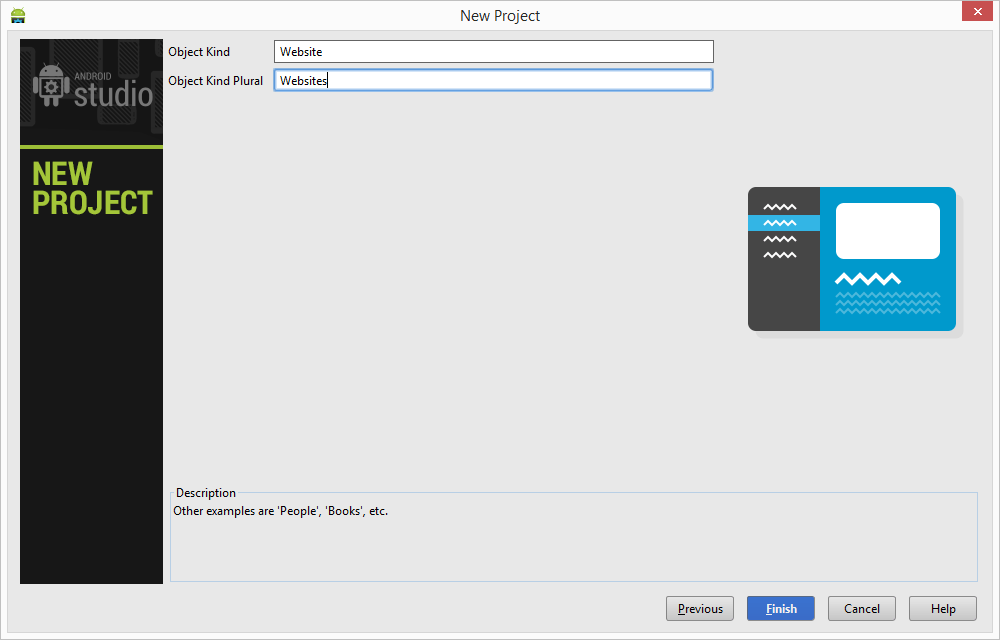 Configuring Master/Detail Flow items in Android Studio