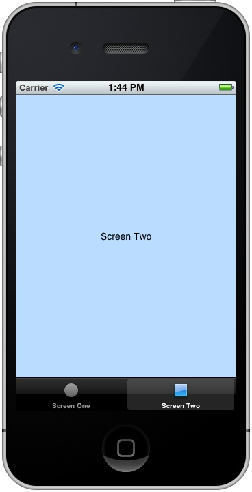Screen Two of the iPhone iOS 5 Tab Bar example application