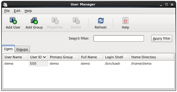 CentOS 6 user management