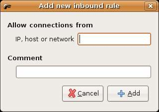 Ubuntu Linux Firestarter Add Inbound Rule