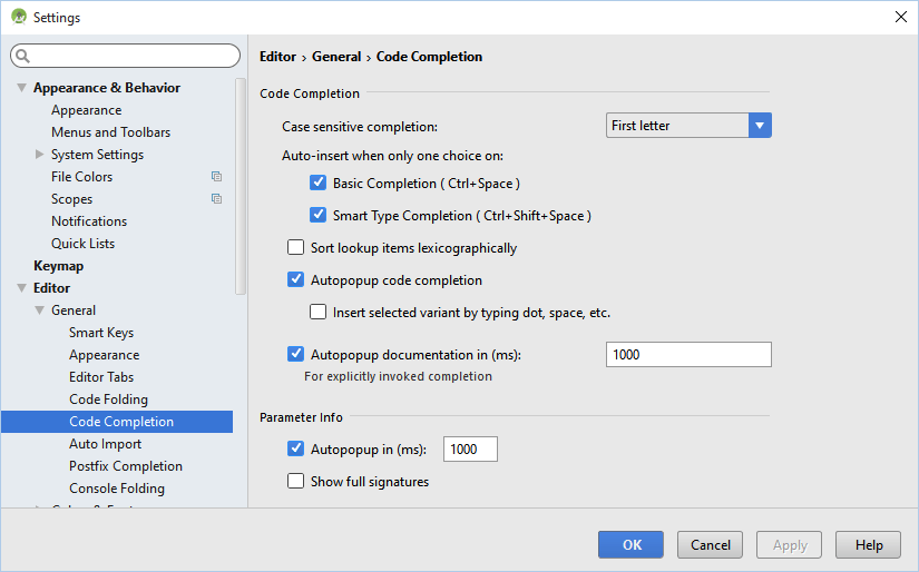Android studio editor completion settings 1.4.png