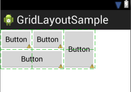 A completed Android GridLayout example