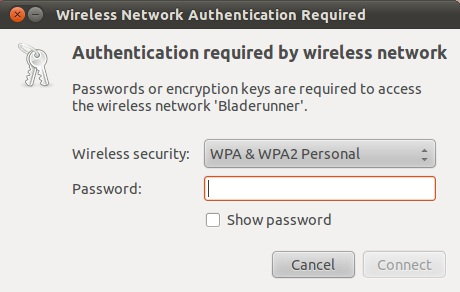 Configuring network authentication details on Ubuntu 11.04