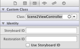 Changing the class of the view controller for a storyboard scene