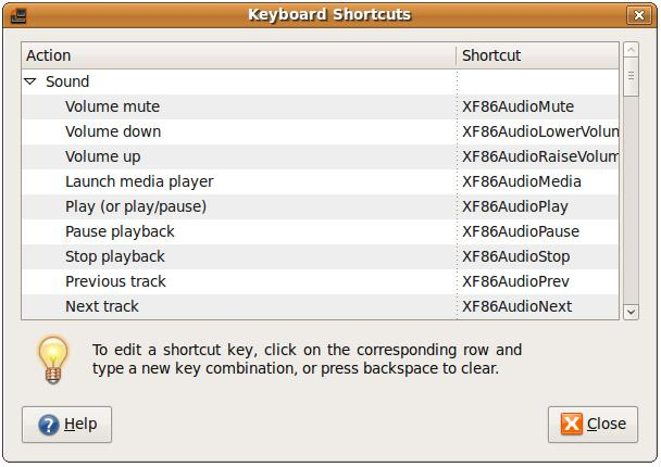 Configuring keyboard shortcuts in Ubuntu