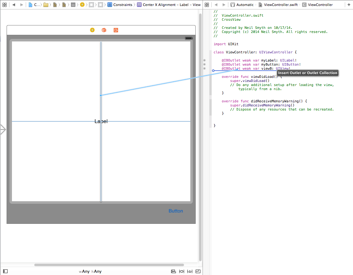 Xcode 6 constraint outlet.png
