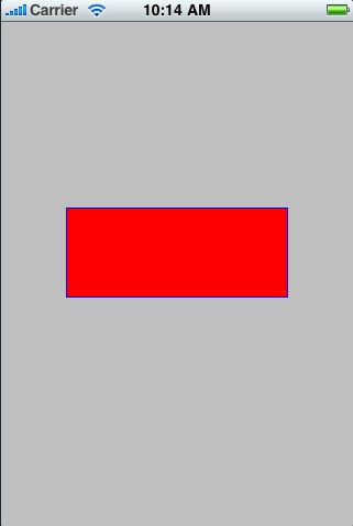 An iOS 4 iPhone rectangle filled with red