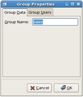 Setting the name of a group on CentOS