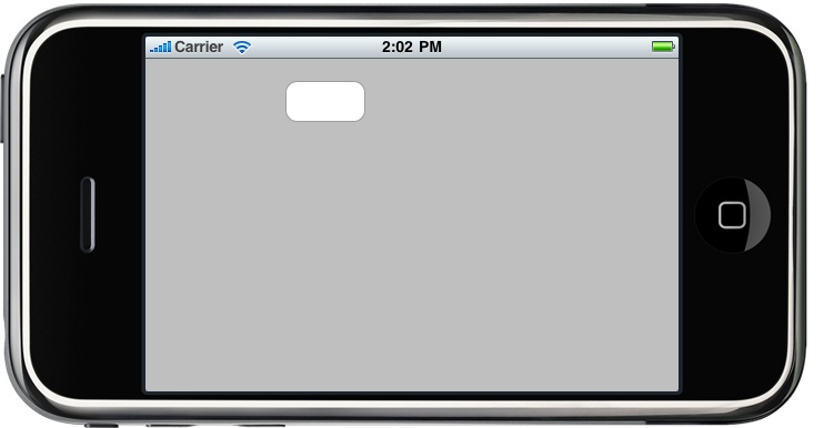 A landscape iPhone view layout without autosizing configured
