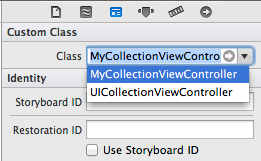 Changing the class name of the iOS 7 collection view controller in Xcode 5