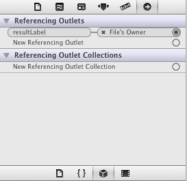 Xcode 4 connections inspector