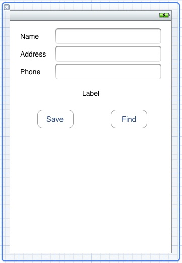 The user interface design for an iPhone iOS 6 Core Data example application