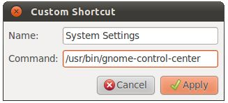 Adding a keyboard shortcut to the Ubuntu 11.04 Unity desktop