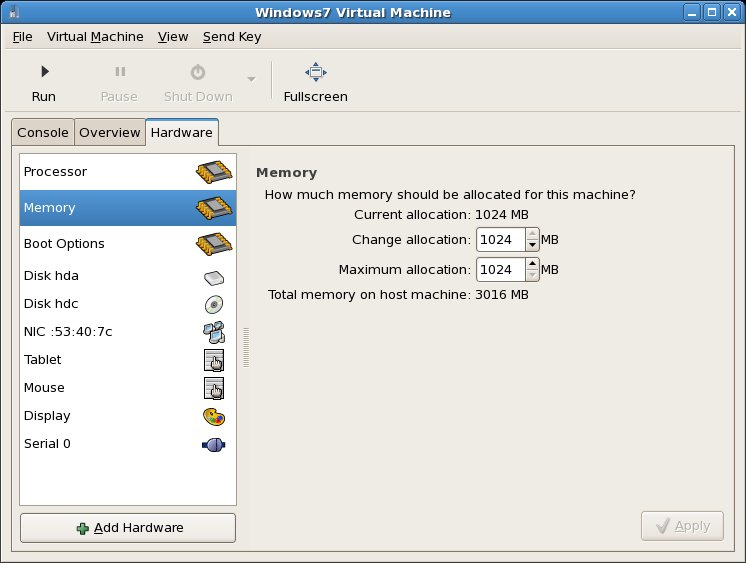 Configuring KVM guest memory settings