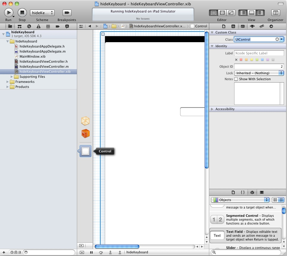 Changing the class of an iPad UIView object