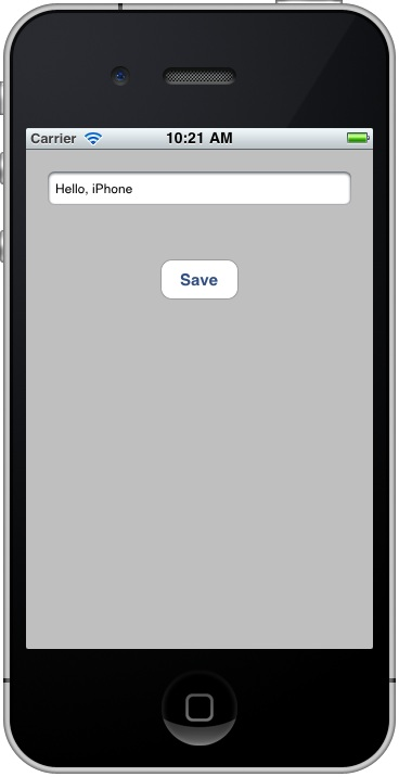 An iPhone iOS 4 file handliong example app running