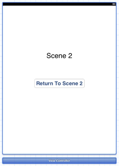 Xcode storyboard scene 2 layout