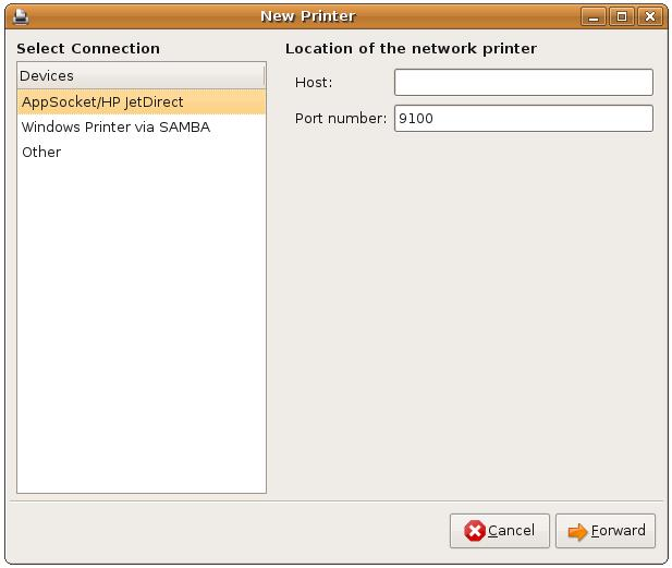 Configuring an Ubuntu network printer