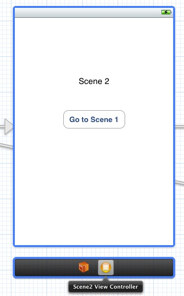 Selecting a storyboard scene view controller