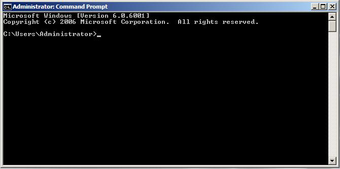 The Windows Server 2008 Command Prompt