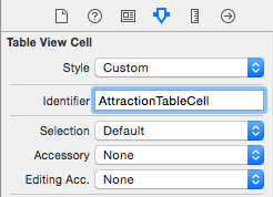 Declaring a cell reuse identifier in Xcode