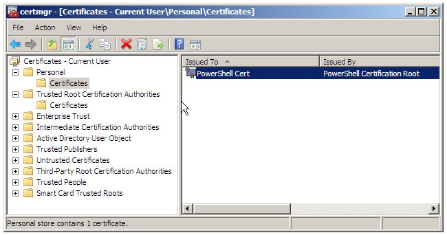 The Windows Certificate Manager Tool