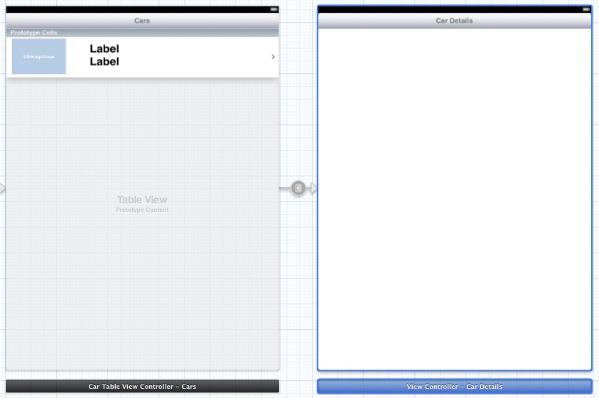 Establishing an Xcode Storyboard segue