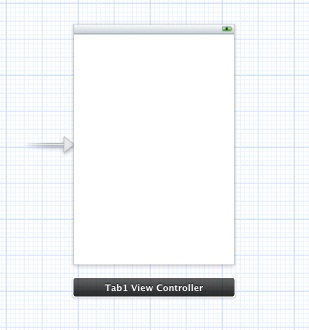 A tab bar controller in an Xcode storyboard