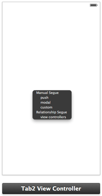 Establishing a view controller relationship in Xcode 5