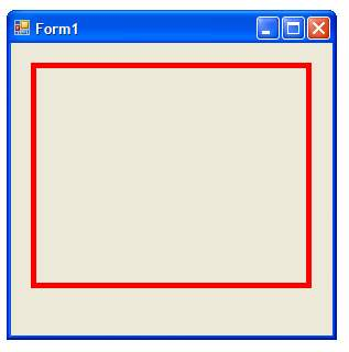 C Sharp Rectangle Drawing Example