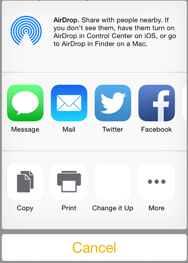 Ios 8 action in acivity view.png