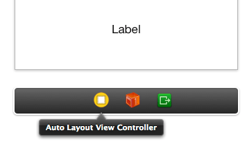 The view controller item in the storyboard view controller toolabar