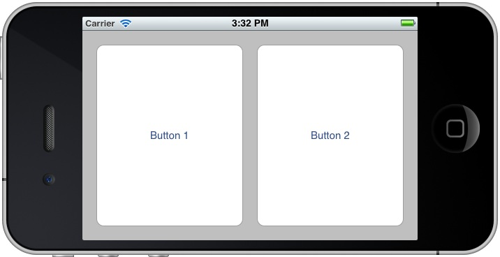 Manually resized iOS 5 iPhone button objects in landscape orientation