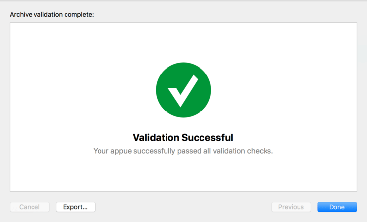 Ios 11 submit app validation success.png