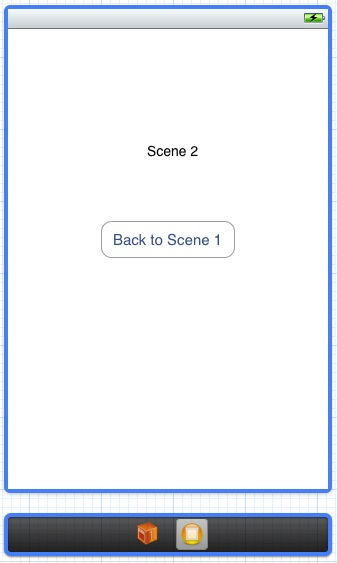 Layout of second storyboard scene