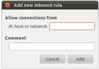 Adding a new Ubuntu 10.10 inbound rule policy
